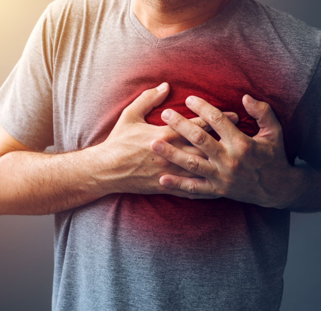 Man with heart problems, Cardiology in Montana